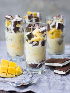 Milchschnitten-Schicht-Dessert