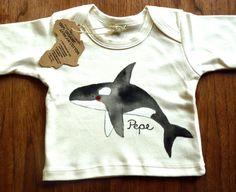 Orka Langarmshirt aus Bio-Baumwolle für Babys und Kinder
