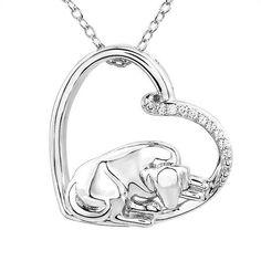 REEDS Jewelers - ASPCA TenderVoices Diamond Sleepy Dog Pendant 1/15ctw. $99.99