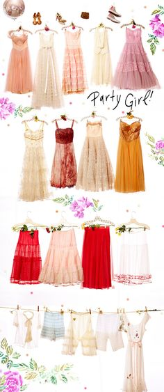 Vintage Loves Party Dresses #freepeople #fashion