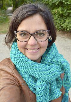 Tunisch gehaakte sjaal - TonSurTon - ByClaire - Haakpatronen, Haakboeken, Haakgaren Tunisian Crochet, Crochet Poncho, Chrochet, Crochet Scarves, Knitting, Clothes, Crochet Ideas, Scarfs, Vest