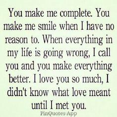 You Make Me Complete.