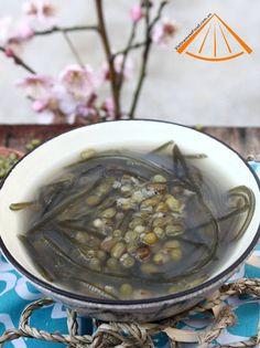 Chè đậu xanh phổ tai - Vietnamese Green Bean Dessert recipe with Fried Seaweed
