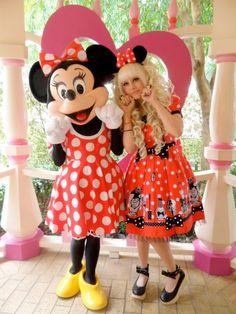 cute kawaii disneyland sweet minnie mouse lolita Japanese Fashion sweet lolita disney land andi autumn Japanese style J Fashion