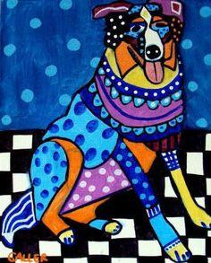 DOG POSTERS  Australian Shepherd Dog Art Print by HeatherGallerArt, $24.00