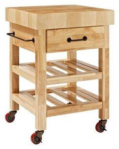 Crosley Marston Butcher Block Kitchen Cart Wood/Natural Butcher Block Kitchen Cart, Rolling Kitchen Cart, Butcher Block Island, Kitchen Island Cart, Kitchen Tops, Butcher Blocks, Kitchen Islands, Kitchen Carts, Kitchen Ideas