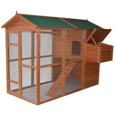 Pawhut Deluxe Large Backyard Chicken Coop/Hen House with Outdoor Run | www.hayneedle.com