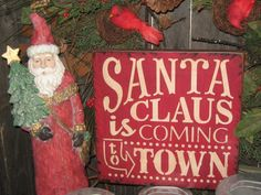 Primitive+Wood+Painted+Christmas+Holiday++by+JustHanginAroundPrim,+$21.95