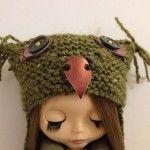 Free Pattern for November - Super Simple Owl hat for Blythe