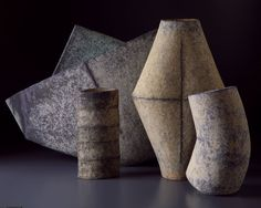 Japanese artist, Mihara Ken experiments with multiple firing techniques of his ceramics. More details on his technique can be found at the Toku-art site. See Blogroll for a link under Mihara Ken. | Decanted
