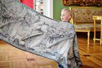 Baby Wrap, Jacquard Weave (60% cotton, 40% bamboo) - Galleons White & Black - size M - LennyLamb.com