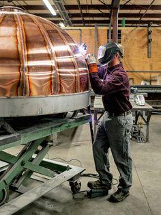 Popular Mechanics   Maine Wood Heat Company   Copper Wood Fired Oven   Welding   Beauty