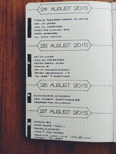 Weekly Log layout idea for your Bullet Journal® (BuJo®).