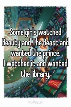 One of our favorite parts of Beauty and the Beast! Funny book memes about wanting a bigger home library.