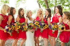 Fun colors and beautiful flowers. Dresses from ModCloth