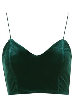Topshop velvet bralette. In forest green? This is so beautiful! With a full high waisted tulle black skirt this would be an amazing outfit! Ah! I wish I owned this!