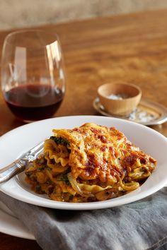 Pumpkin Lasagna and Wine