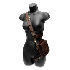 # medieval leather accessories Handmade Steampunk Viking Style Two Leather Bag Vintage with Buckle Straps Fashion Adjustable Shoulder Bag Medieval Cross Body Leather Pirate Bag Fantasy Larp Cosplay Props Accessories Moda Steampunk, Steampunk Fashion, Steampunk Cosplay, Steampunk Clothing, Steampunk Diy, Anime Outfits, Cool Outfits, Fashion Outfits, Gothic Fashion