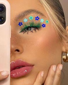 Cute Makeup Looks, Makeup Eye Looks, Eye Makeup Art, Crazy Makeup, Perfect Makeup, Pretty Makeup, Indie Makeup, Edgy Makeup, Makeup Inspo