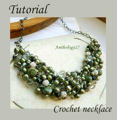Tutorial  Crochet necklace by anthology27 on Etsy, $10.00