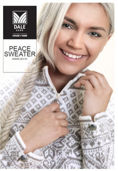 Peace pattern by Randi Sunde for Dale of Norway. published July click through for FREE pattern via Ravelry link Intarsia Knitting, Intarsia Patterns, Sweater Knitting Patterns, Knitting Charts, Free Knitting, Norwegian Knitting, Fair Isle Knitting, Couture, Knit Crochet