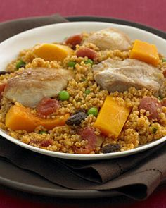 Moroccan Chicken and Couscous recipe