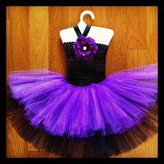 Black & purple multi layer tutu dress
