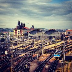 Prague main railway station is the largest and most important railway station in Prague in the Czech Republic. Inter Rail, In Plan, Two Best Friends, World's Most Beautiful, Round Trip, Train Station, Czech Republic, Places To See, Paris Skyline