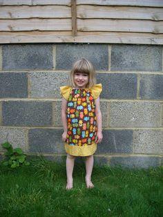 Brooke peasant dress (Little Lizard King pattern)