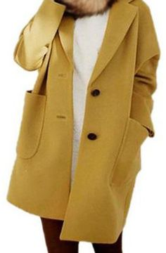>> Click to Buy << 2017 NEW Womens Long Sleeves Drop Pocket Boyfriend Cardigan Open Casual Mustard Yellow #Affiliate
