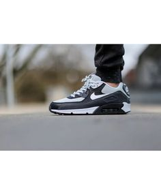online store 55a8c 4664f Air Max 90 Leather Grey Mist Trainer