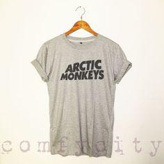 Arctic monkeys shirt tshirt grey GRAY ST22 by ComfyCity on Etsy, $17.00... intense desire!!!