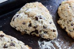Chocolate Chip Banana Bread Scones with Brown Butter Glaze | How Sweet It Is