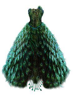 Emerald Peacock Dress by BrookeGillette on DeviantArt Peacock Costume, Peacock Dress, Feather Dress, Peacock Wedding Dresses, Peacock Wedding Colors, Peacock Colors, Peacock Theme, Beautiful Dresses, Nice Dresses