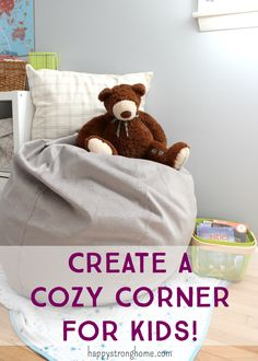 Create a cozy corner for the kids (or you) to read and relax! Kids home decor for bedroom or other space in the house! (sponsored)