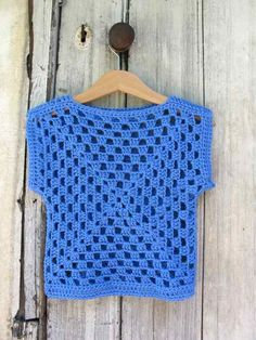 Easy and adorable granny square top--page is in Turkish