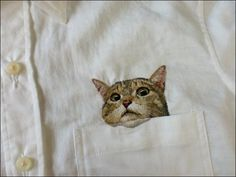 """pocket kittens"" collection, by japanese embroider Hiroko Kubota"