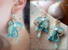 Earrings: soutache and beadembroidery--- by Serena Di Mercione (original design by Eliana Maniero)