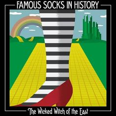 I don't know who exactly undertook a project to catalogue the famous socks of history, but I have a feeling that I am definitely becoming that type of person.