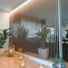 Wooden Partition Design, Wooden Partitions, Living Room Partition Design, Room Partition Designs, Partition Ideas, Living Room Divider, Room Divider Walls, Diy Room Divider, Small Room Divider