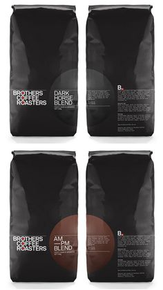 Iden­tity and pack­ag­ing design for Broth­ers Cof­fee Roast­ers by Aus­tralian stu­dio Verse