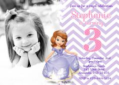 This listing is for a Sofia the First Princess Birthday Party Invitation Digital File All fonts colors and wording can be changed at no extra cost This listing includes one Princess Sofia Birthday, Sofia The First Birthday Party, 4th Birthday Parties, 1st Birthday Girls, Birthday Fun, Birthday Ideas, Third Birthday, Birthday Celebrations, Birthday Cakes