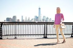 Hoboken + Brooklyn Weekend Wear: Bow Pumps and Sparkly Jewels - Kelly in the City