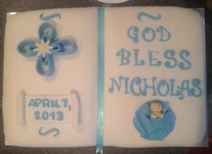 Baby dedication cake. Created by Tannicakes on Facebook and Instagram