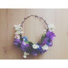 Fairytale Flower Crown, Violet Headband, Purple Flower Crown ❤ liked on Polyvore…