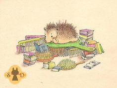 Little hedgehog's obsessions comb by Adelaida