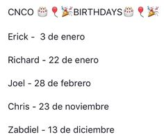Cnco members and their date of birthday. Avakin Life, Love Life, James Arthur, Ricky Martin, Mc Don Juan, I Love You All, Facetime, Funny Cute, Boy Bands