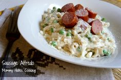 GF Turkey Sausage and Fettuccine Alfredo