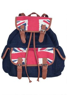 Black Union Jack  Backpack