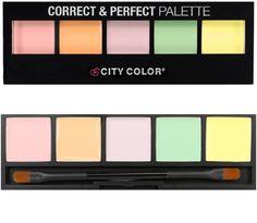 H City Color Correct & Perfect Palette περιλαμβάνει 5 διορθωτικές αποχρώσεις, για να καλύψετε οποιαδήποτε ατέλεια! Η κρεμώδης υφή τους απλώνεται εύκολα, πετυχαίνοντας ομοιόμορφο blending.Ροζ: Διορθώνει το μουντό και χλωμό τόνο της επιδερμίδαςΠορτοκαλί: Διορθώνει τους μπλε υποτόνους και είναι ιδα